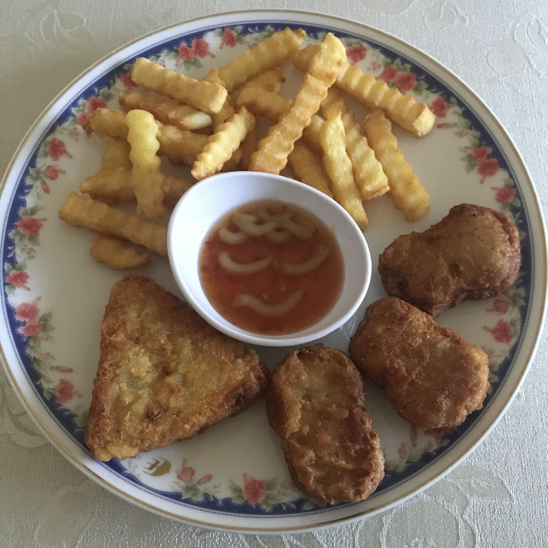 Nuggets, hash brown and fries!!! 😃💛