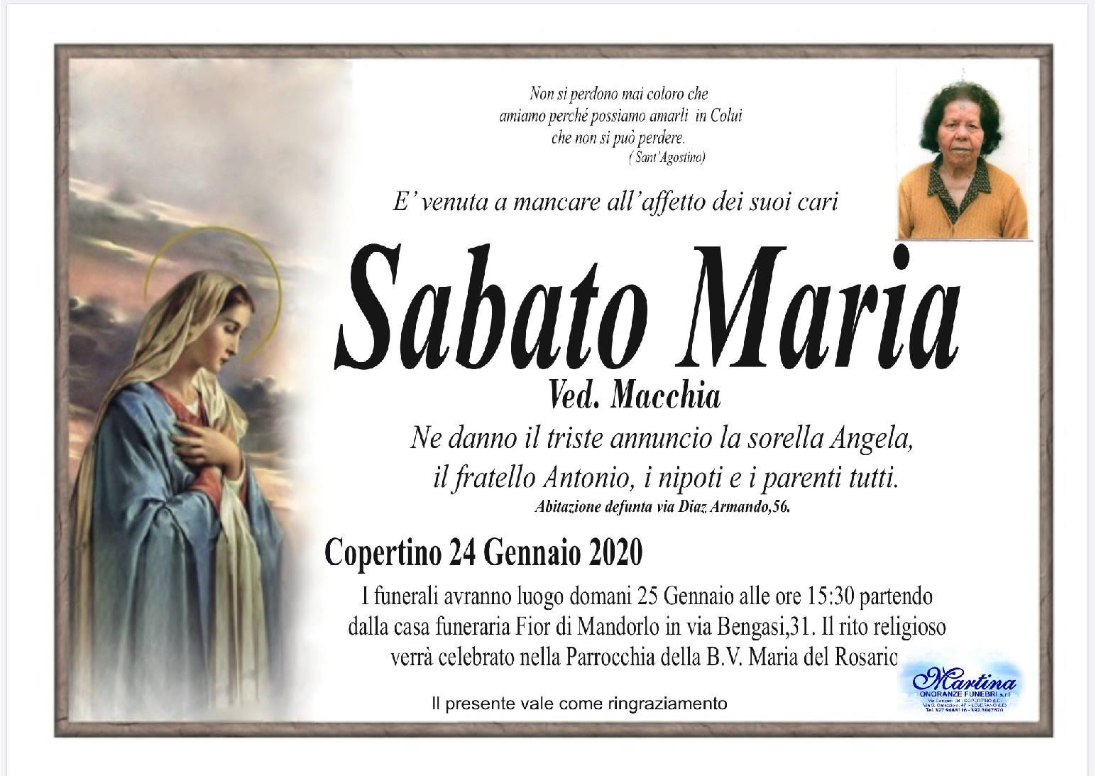 Maria Sabato