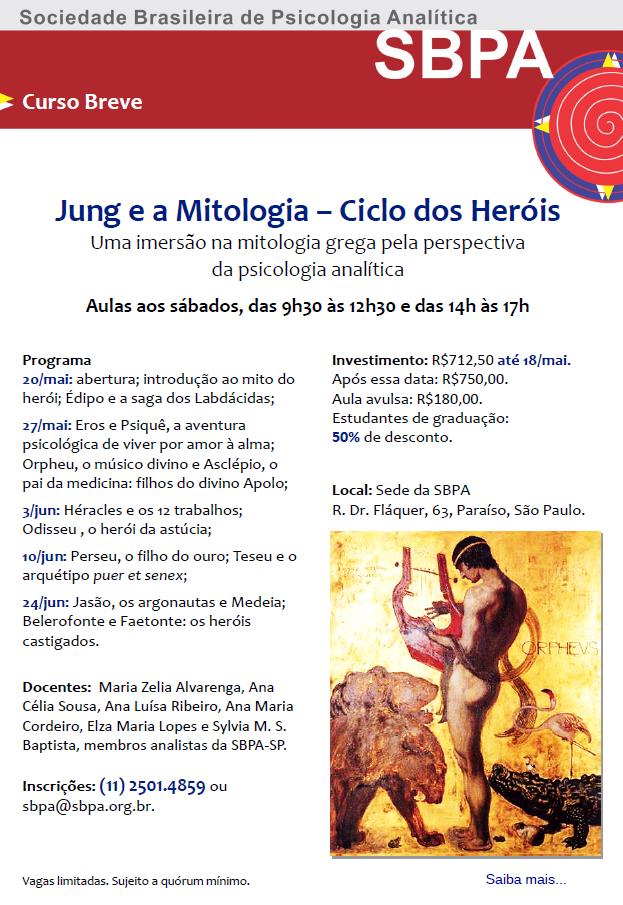 Jung e a Mitologia - Ciclo dos Heróis - Início 20 de maio de 2017