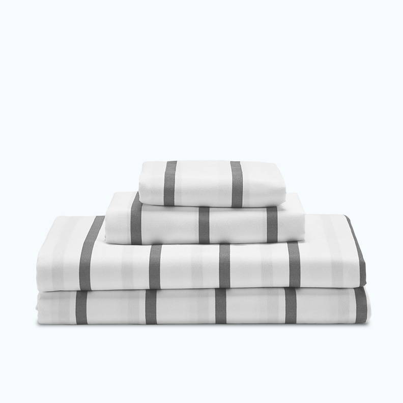 sleep zone bedding website store products collections cooling striped sheet set cozy white