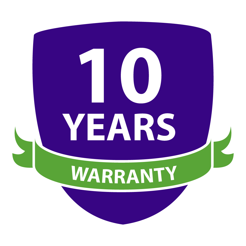 Best In Class 10 Year Full Replacement Warranty