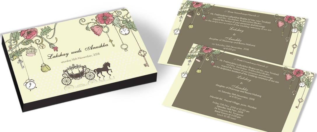 Garden Theme Wedding Invitation – CHOCOCRAFT