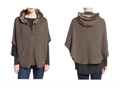 Barbour Islay Faux Fur Trim Hooded Knit Cape