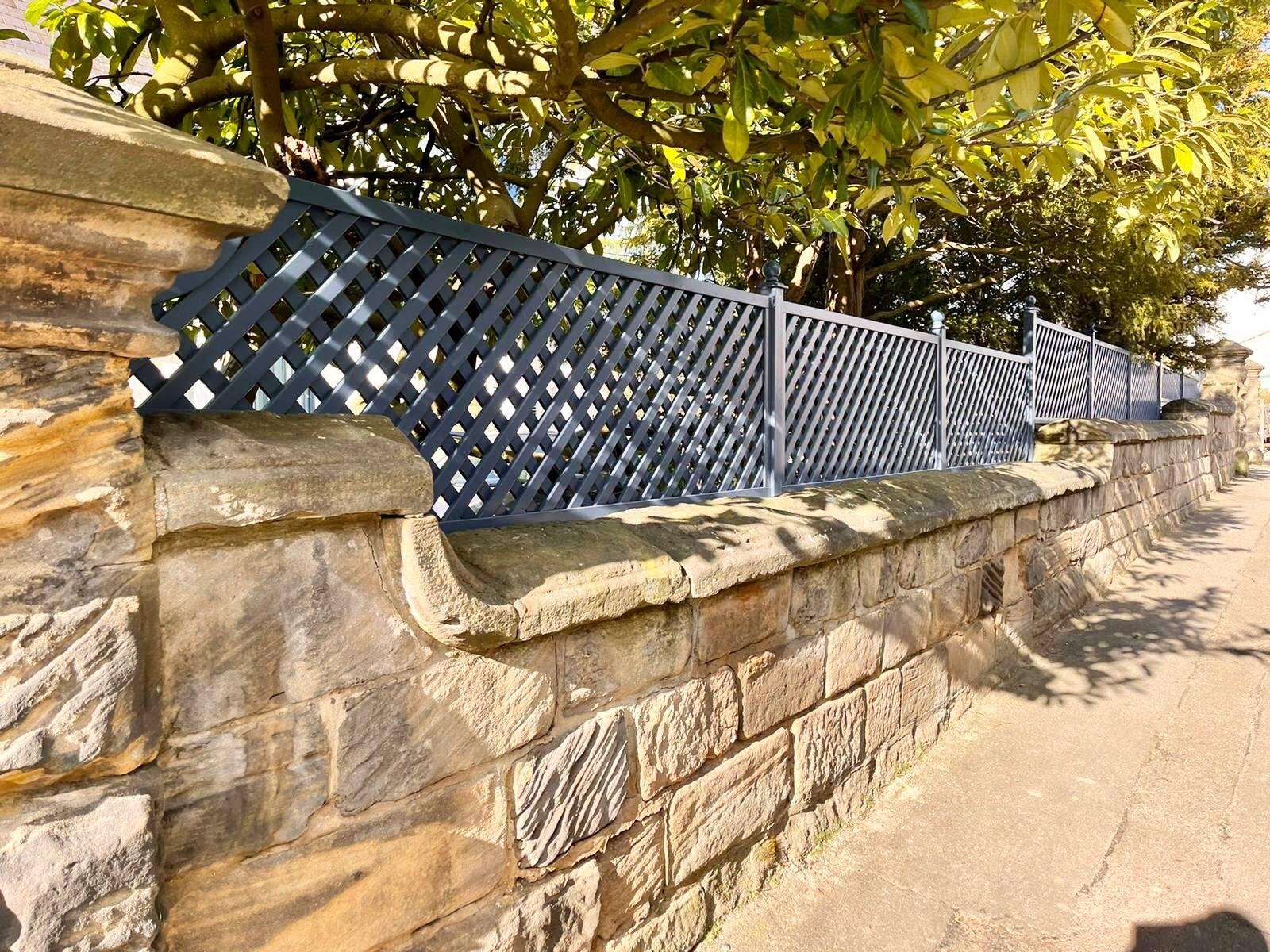 Painted Garden privacy Trellis