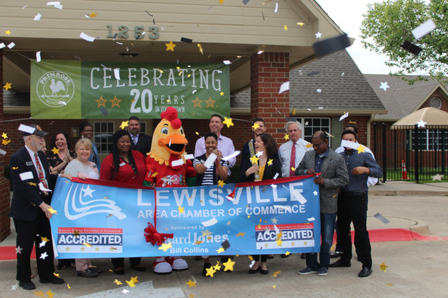 20th Anniversary Ribbon Cutting with the Lewisville Chamber of Commerce