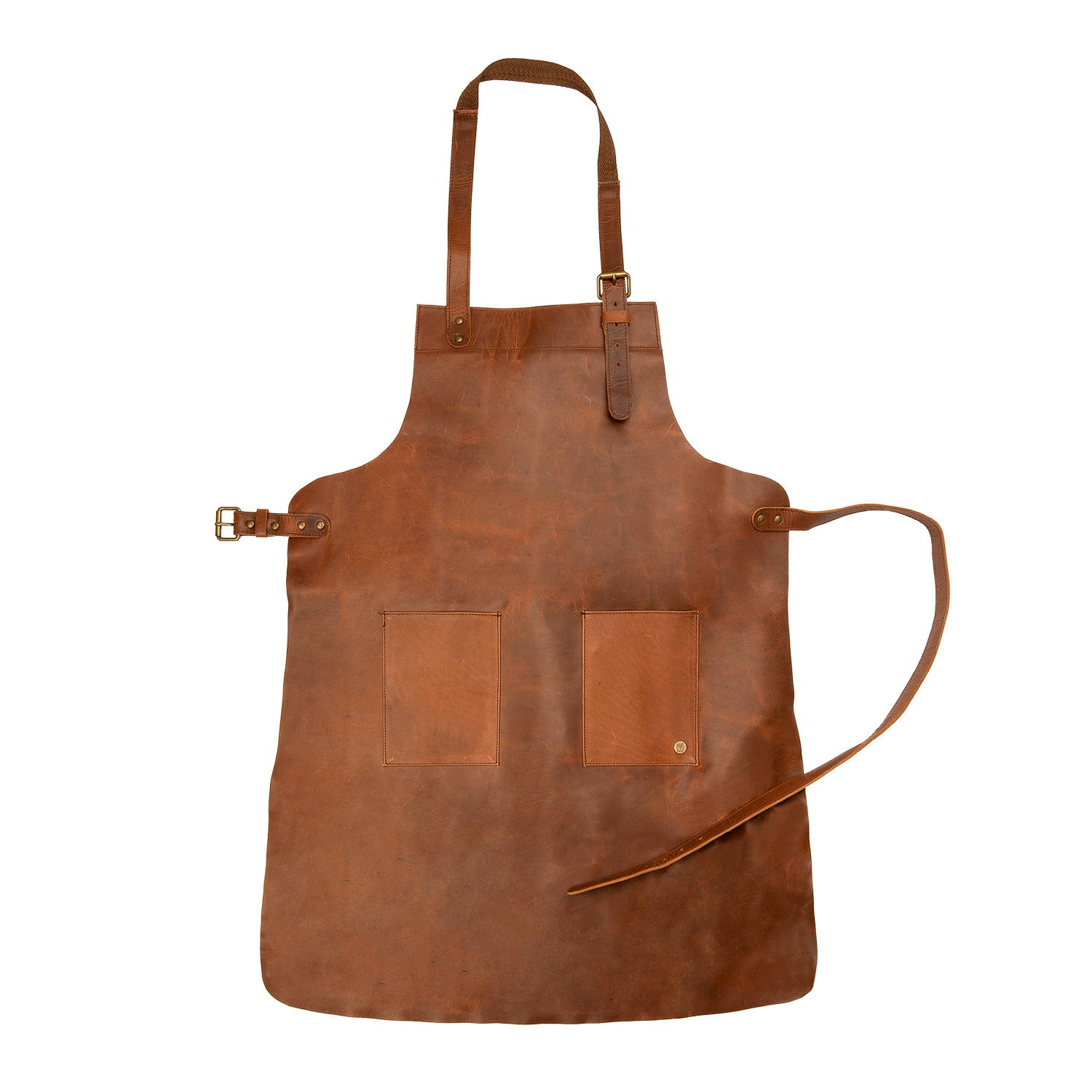 Double Pocket Leather Apron - MAHI Leather