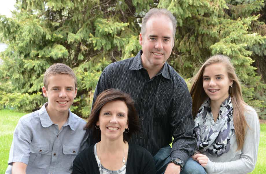 Franchise Owners of Primrose School Joe and Sarah Piket with their family