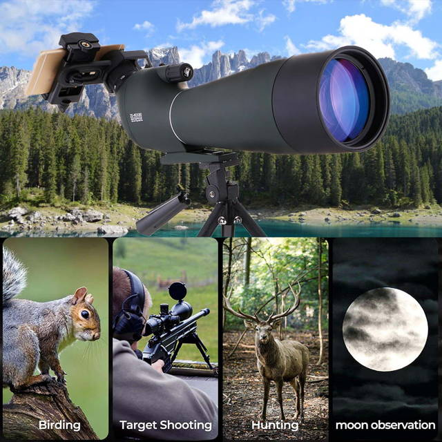 spotting scope for birdwatching,target shooting,hunting,moon observation