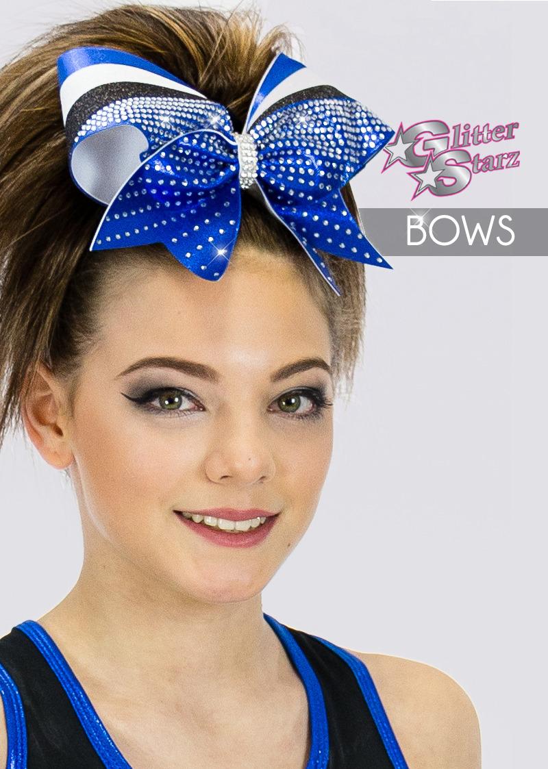 glitterstarz custom bows with rhinestones for cheer and dance