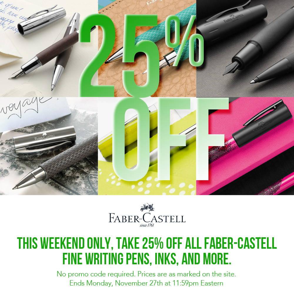 Get 25% Off Faber Castell