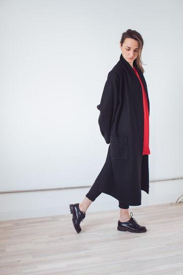 осеннее пальто-халат  *классика черного*