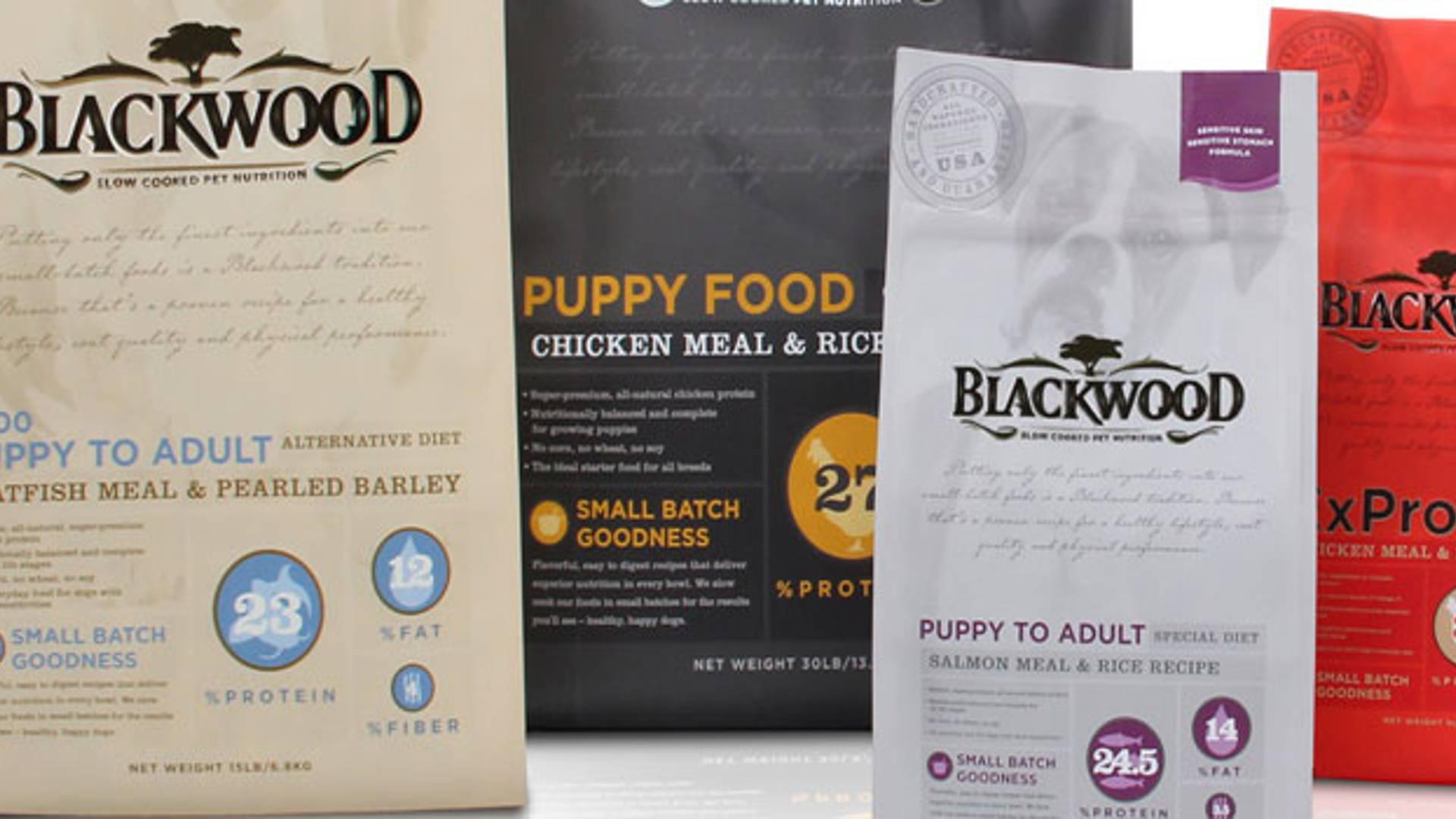 Blackwood Pet Food Dieline Design Branding Packaging Inspiration