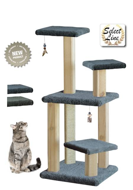 spires model intergrooved wood cat scratching post and activity center