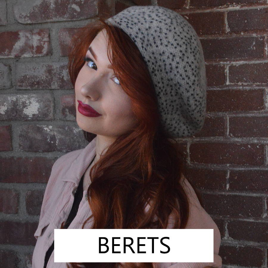 The classic French style women's beret with a modern twist.