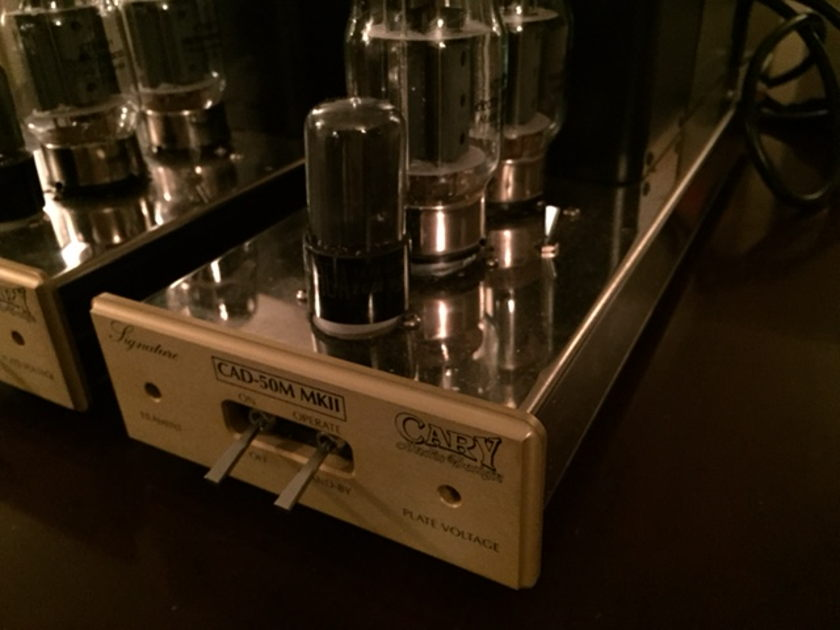 Cary Audio Design CAD-50m mkII Sig Class A Monoblock Power Amplifiers