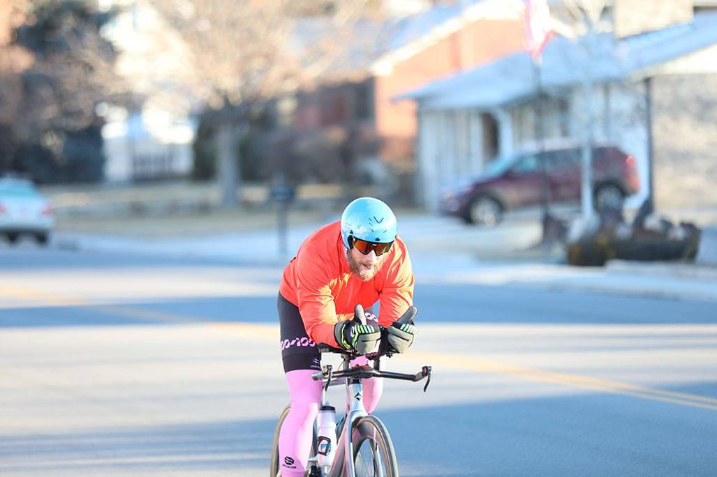 James lawrence on bike