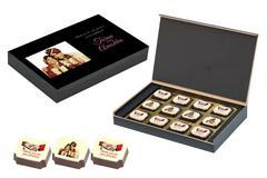 Return Gifts Online - 12 Chocolate Box - Printed Candies (10 Boxes)