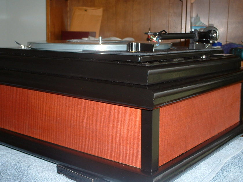 Great Custom Lenco Project heavy Platter,Updated Motor,Platter with mint Rega RB-300 Arm