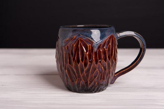 Большая чашка ручной работы