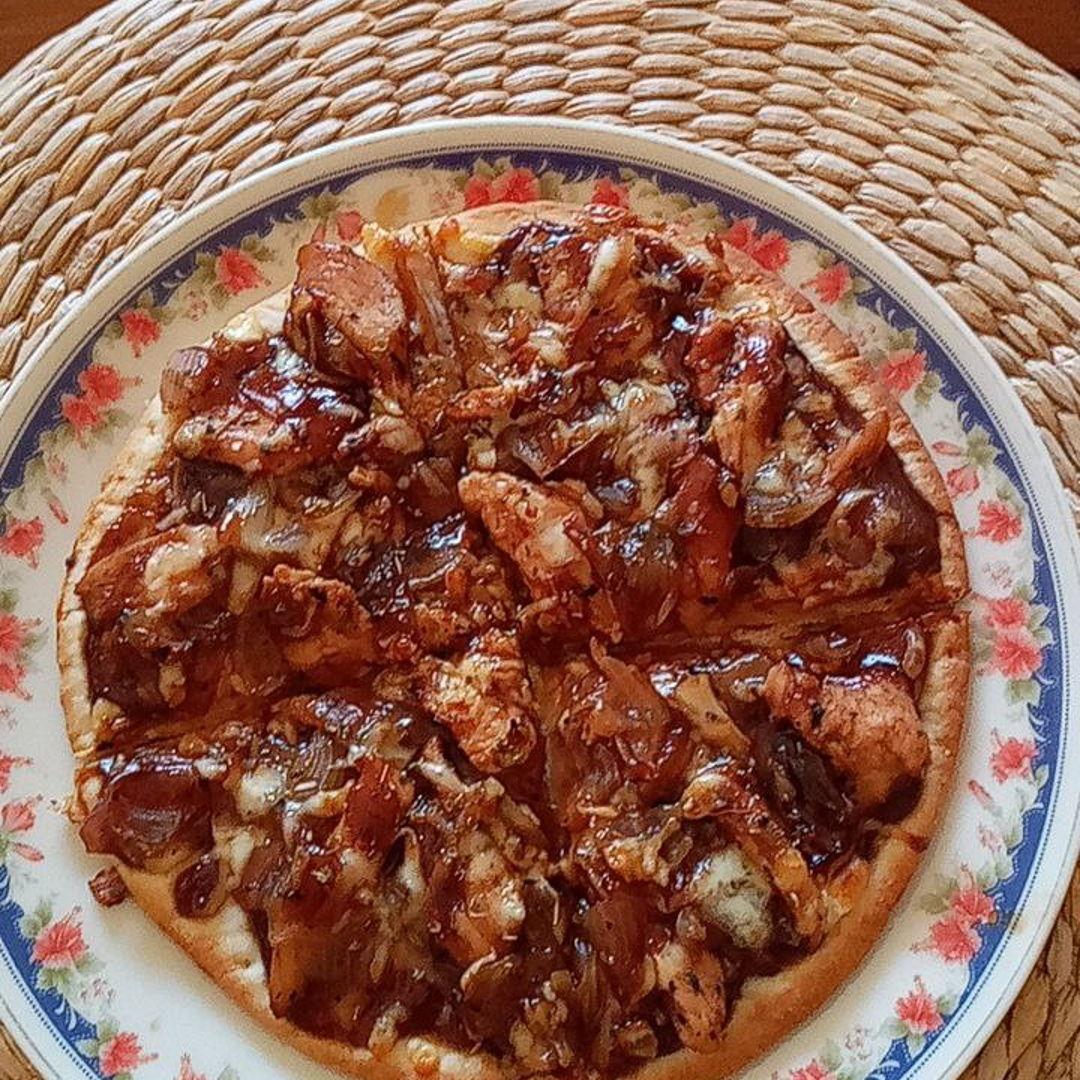BBQ chicken pizza 🍕 🤗😘