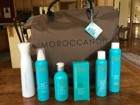 Heaven Scent Salon Moroccan Oil Travel Bag with Products