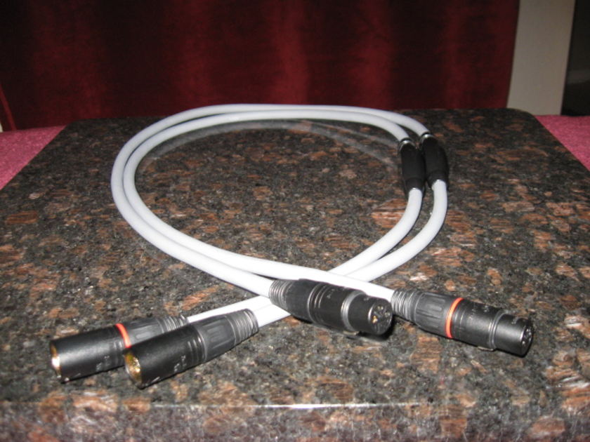 "TRANSPARENT AUDIO BALANCED MUSICLINK 1-Meter XLR Pair Interconnects ""Like New"" ""Price Lowered"""