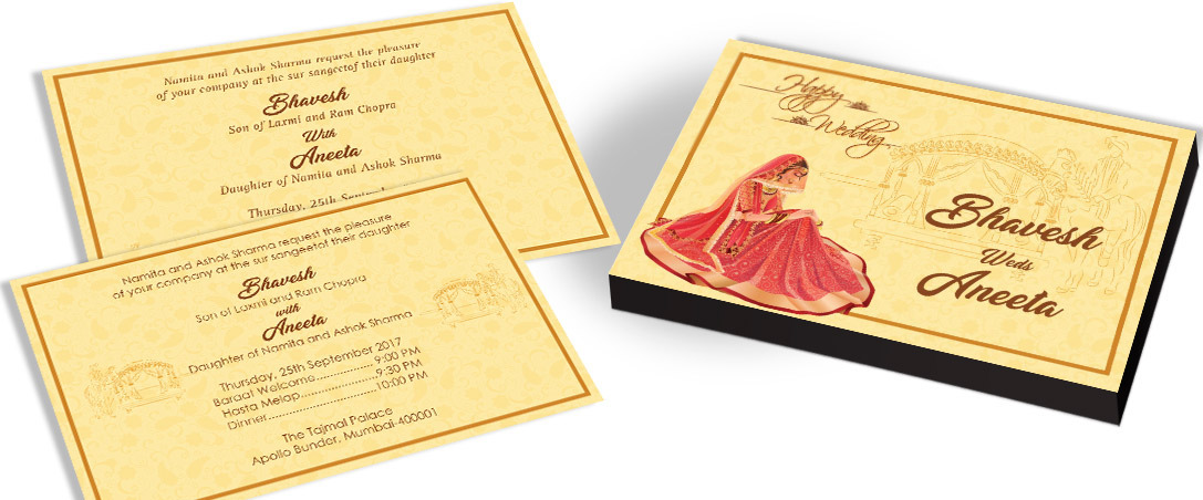 Bride & Doli Invitation for Indian Marriage