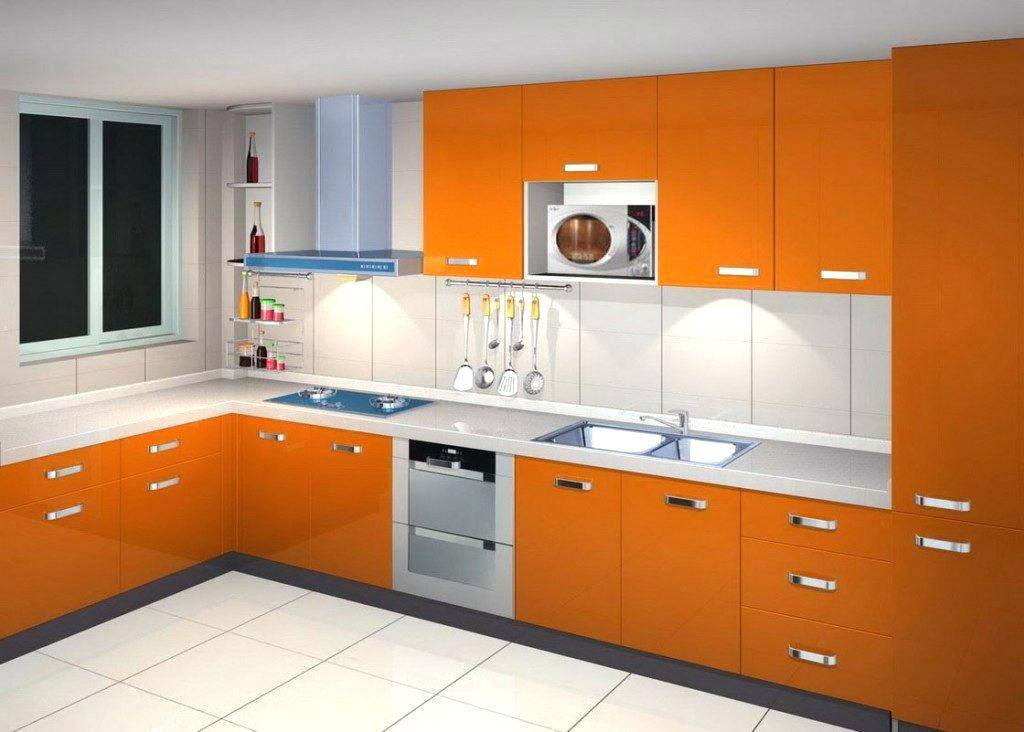 High gloss laminate kitchen cabinets