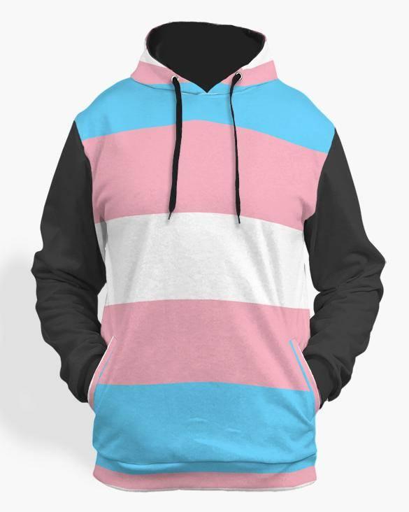trans pride hoodie