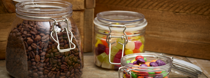 Pet jars and containers