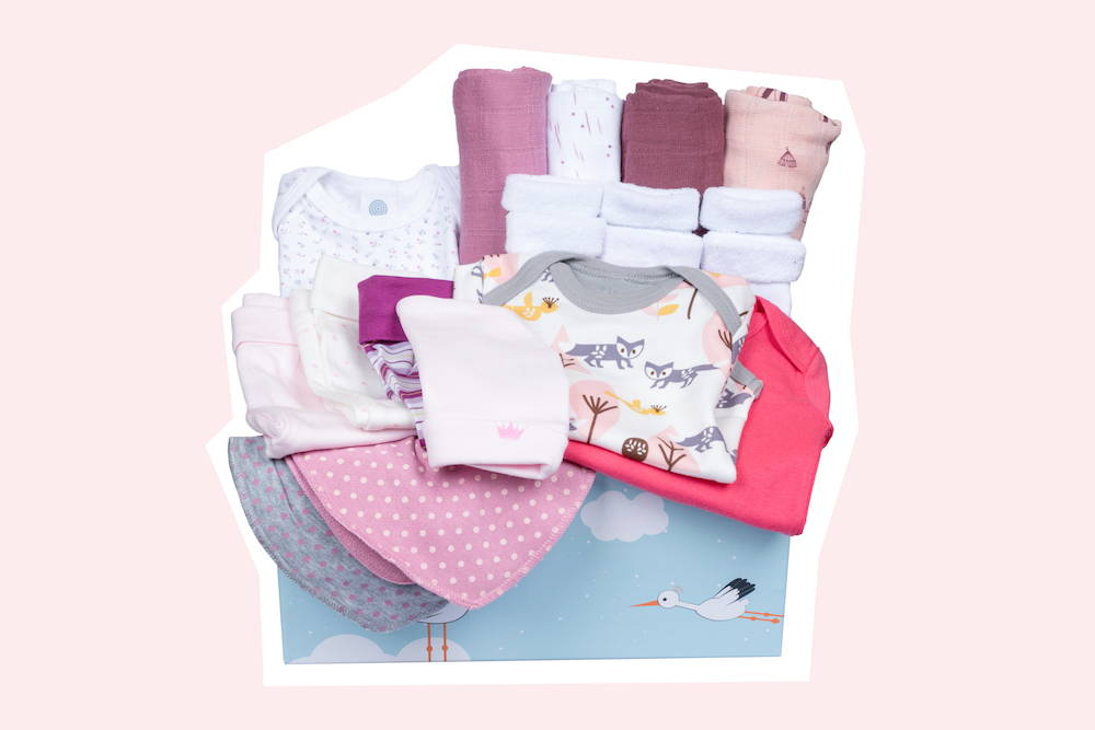 Baby Box Geschenk zur Geburt für Mädchen von Taidasbox