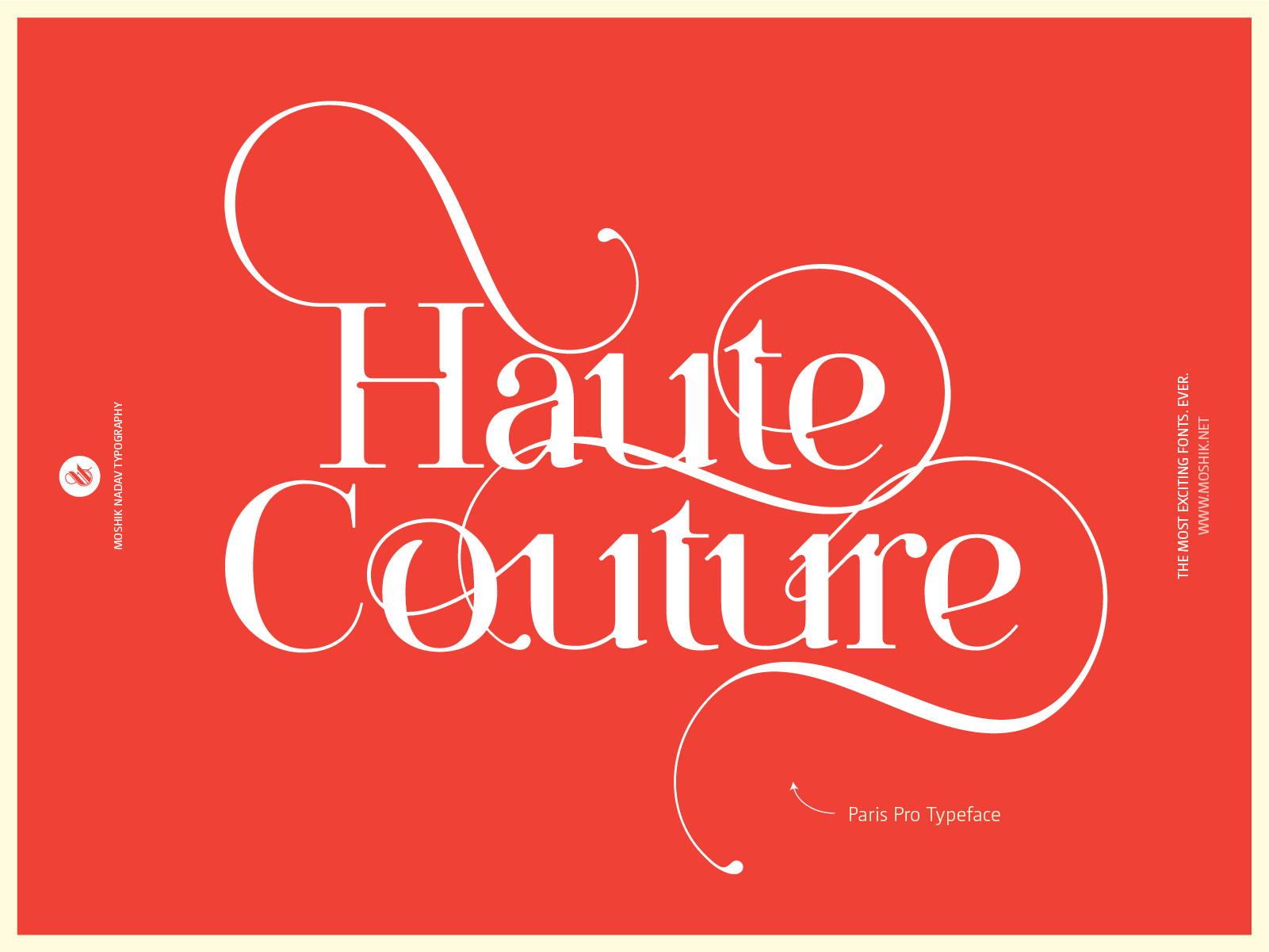 Haute Couture, Paris Pro Typeface, fashion fonts, fashion typography, vogue fonts, must have fonts for fashion, best fonts 2021, must have fonts 2021, Fashion logos, vogue fonts, fashion magazine fonts, sexy logos, sexy fashion logo, fashion ligatures