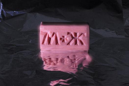 Мыло с надписью М+Ж