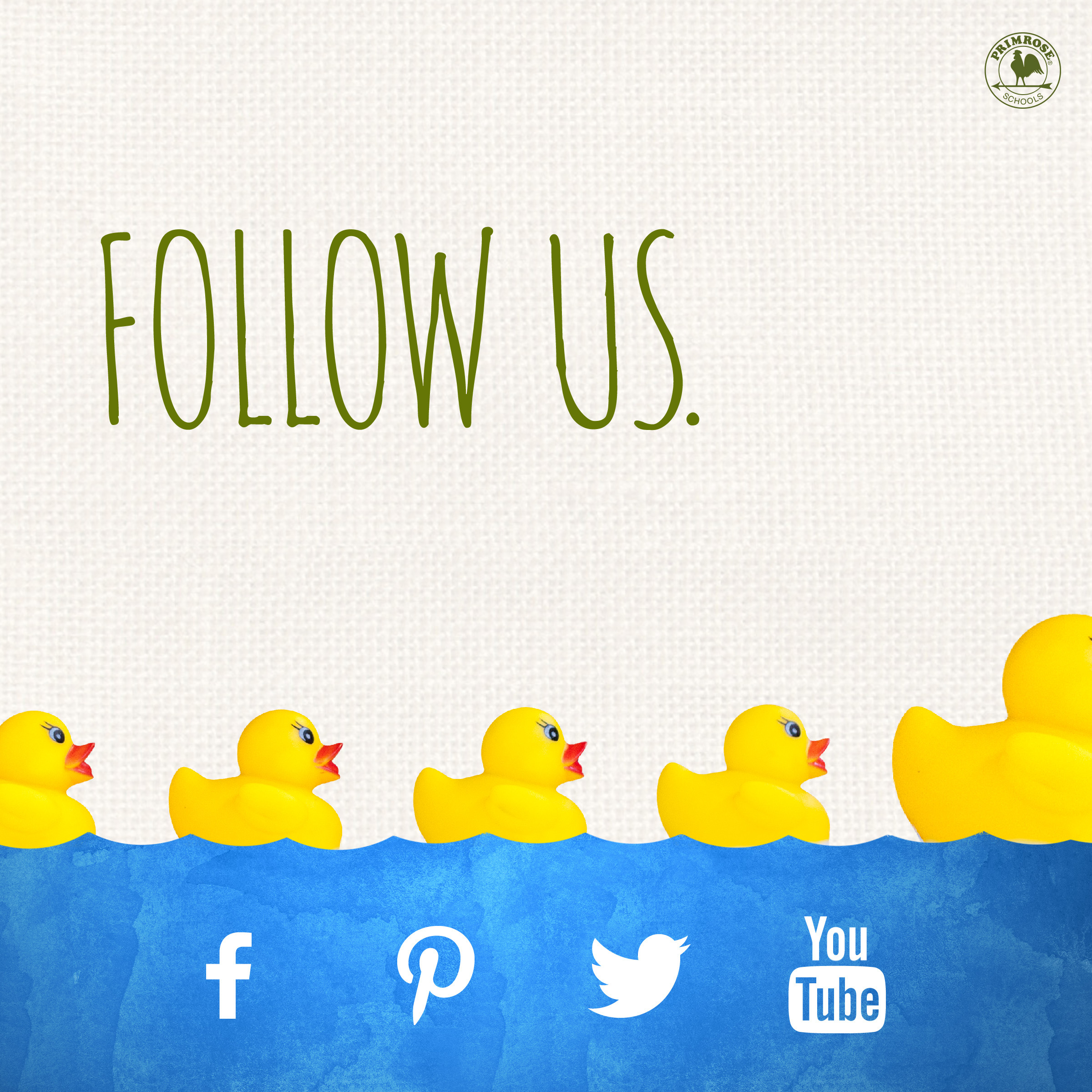 follow facebook pinterest instagram youtube social media