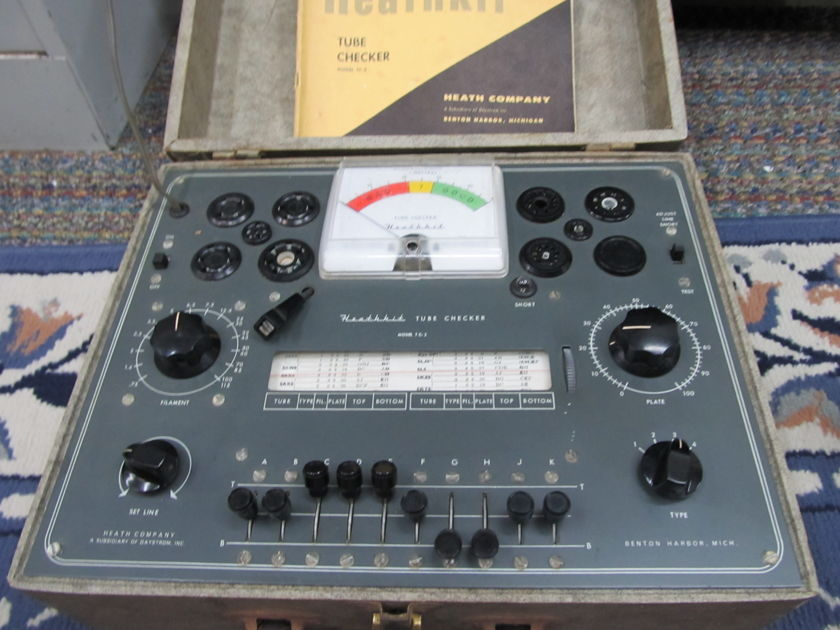HEATHKIT TC-2 TUBE TESTER MANUAL, ROLL CHART, SUPPLEMENT CHART, 6550/5AR4/300B/6CA7/12AX7/2A3, 100s and 100s of tubes