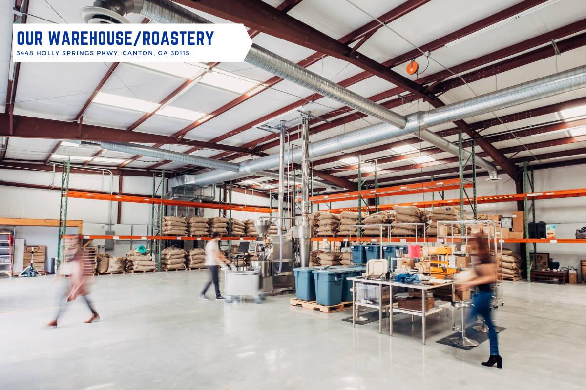 Interior shot of the Alma Warehouse in Holly Springs, GA