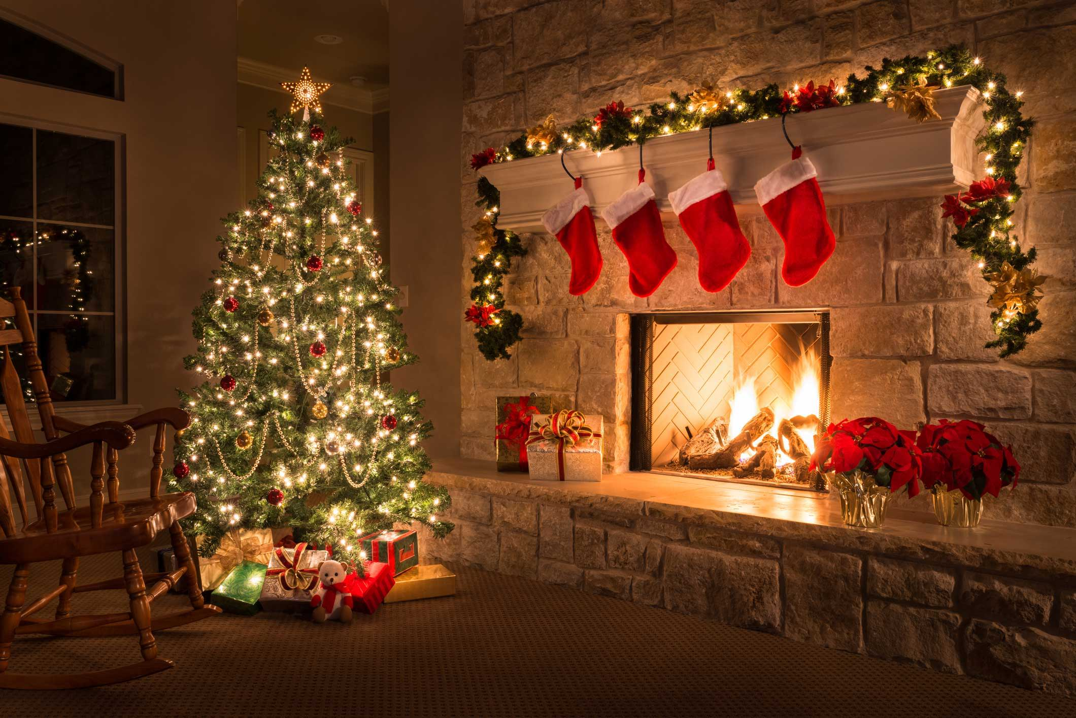 Christmas Fire Place Images.Holiday Fireplace And Chimney Safety Barnhill Chimney