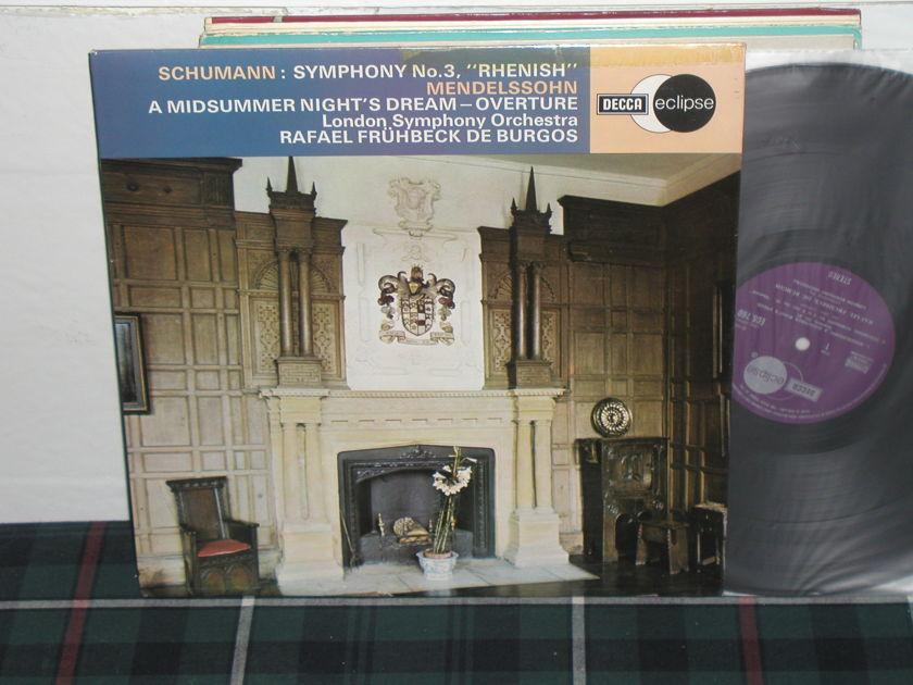 Fruhbeck De Burgos - Schumann Symp No 3 UK Decca ecs 760
