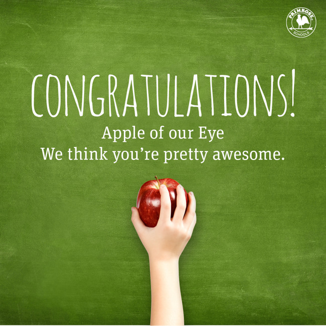 Congrats to all of our Teachers