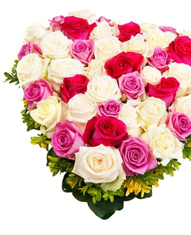 hf Blooming Heart Arrangement