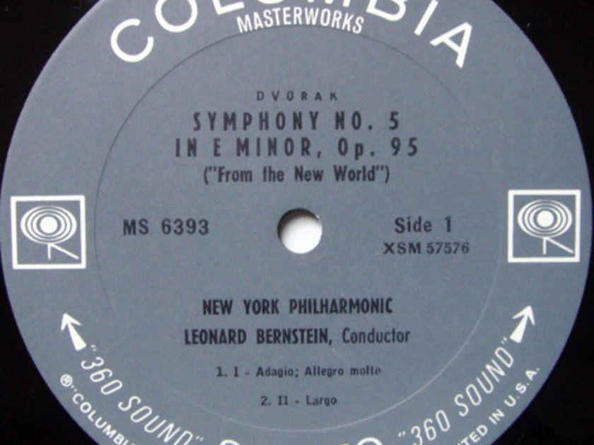 Columbia 2-EYE / LEONARD BERNSTEIN, - Dvorak Symphony No.5 From the New World,  MINT!