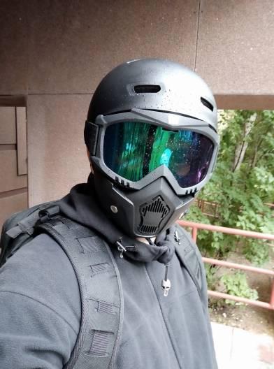 masque amovible trottinette electrique adulte