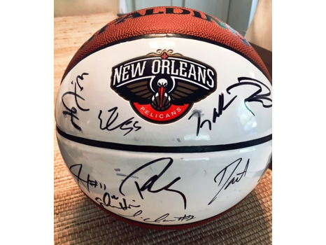 New Orleans Pelicans Team Autographed Basketball