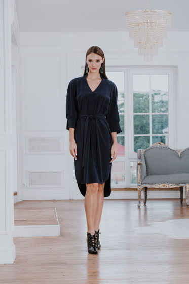 Платье  темно-синее Bonali 4074-0604