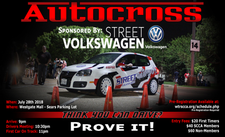 Street Volkswagen Autocross - July 2018 - Night 2
