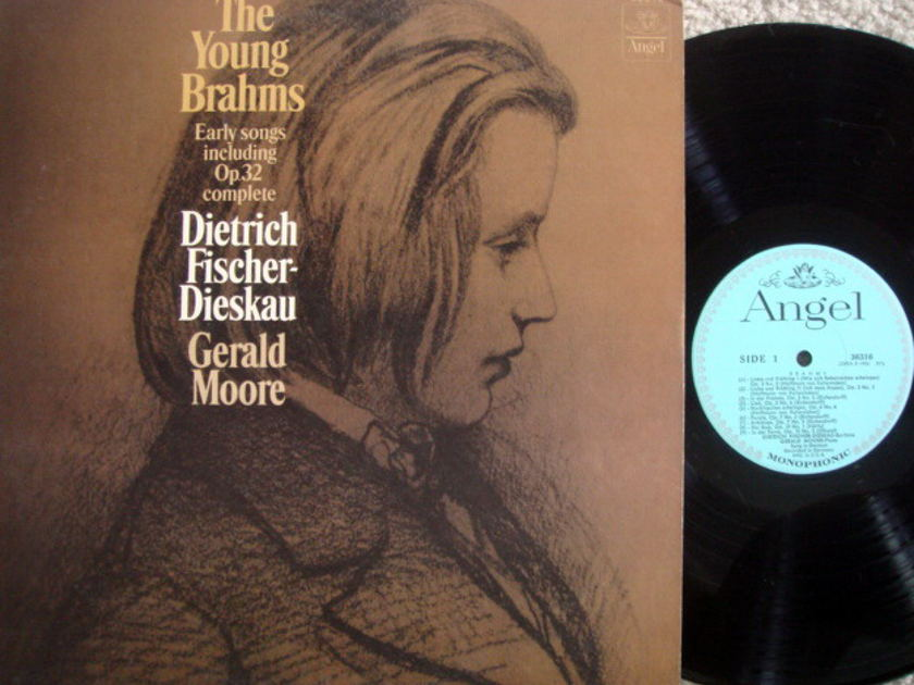EMI Angel Blue Mono / FISCHER-DIESKAU, - Brahms Early Songs, MINT!