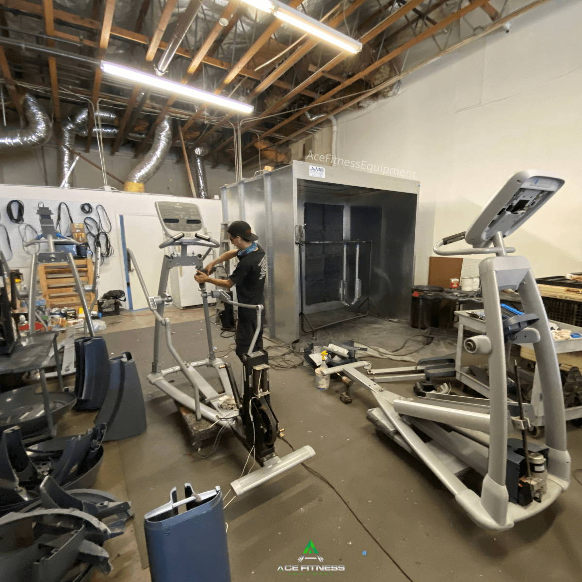 Refurbished Precor AMT 100i Elliptical in our warehouse in the Long beach CA area