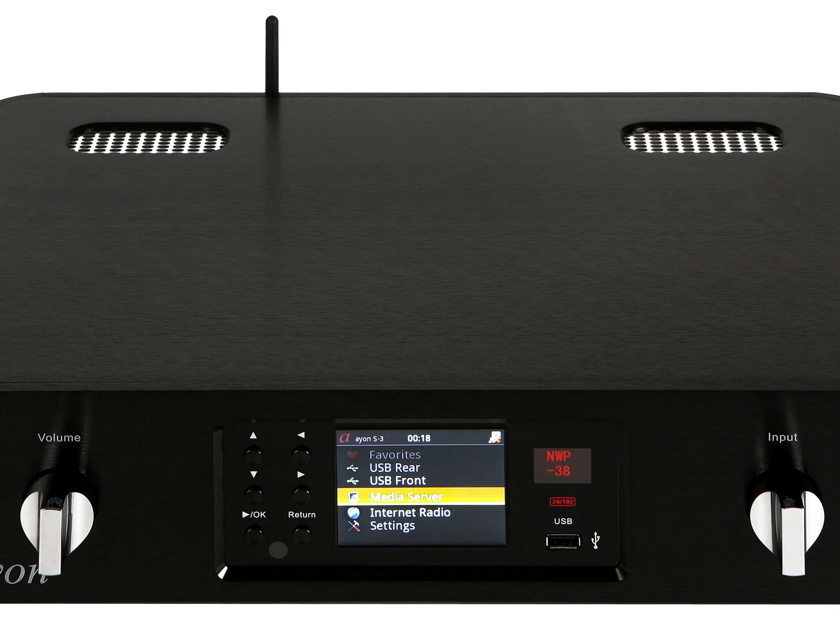 "AYON AUDIO S3 TUBE MEDIA SERVER ""BEST OF SHOW"" 8 YEARS!"