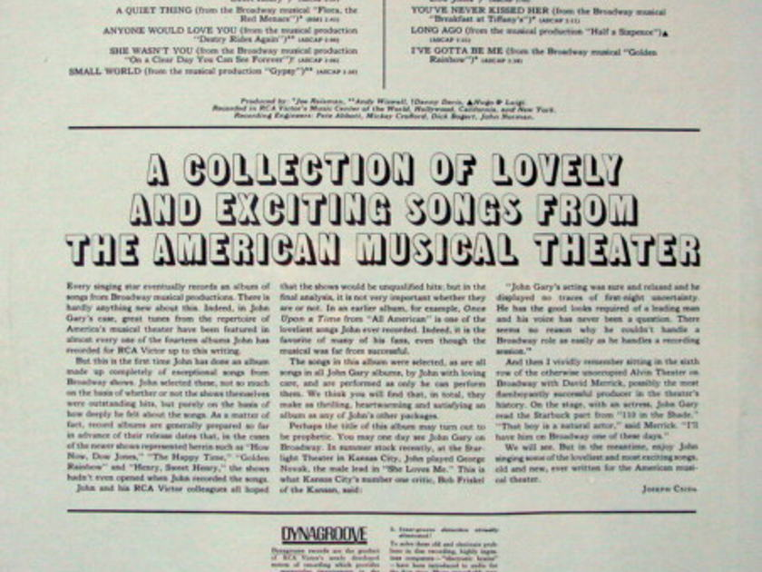 ★Sealed★ RCA Victor / - John Gary on Broadway!