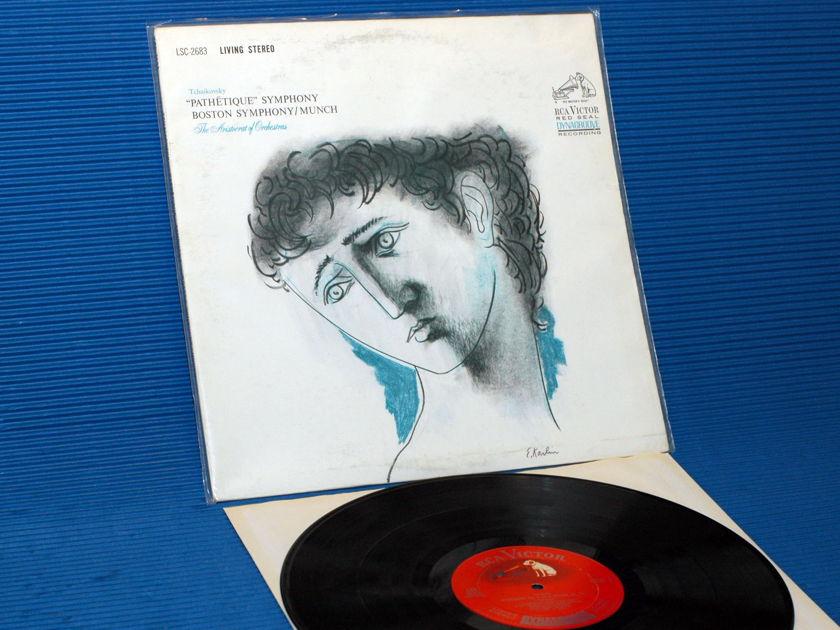 """TCHAIKOVSKY/Munch -  - """"Pathetique' Symphony"""" -  RCA 'Shaded Dog' 1963 7S/3S"""